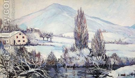 Winter Landscape by Alexander Altmann - Reproduction Oil Painting