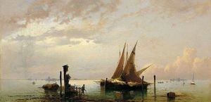 Reproduction oil paintings - Hermann David Solomon Corrodi - On The Lagoon, Venice