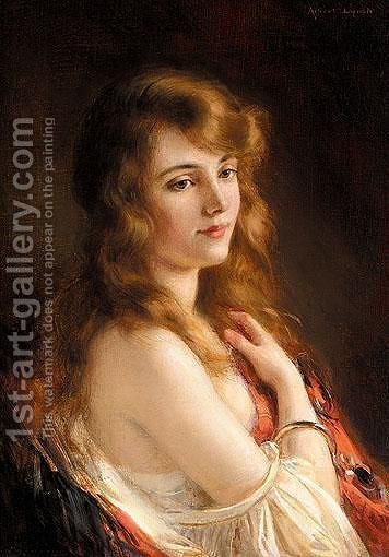 A Beauty by Albert Lynch - Reproduction Oil Painting