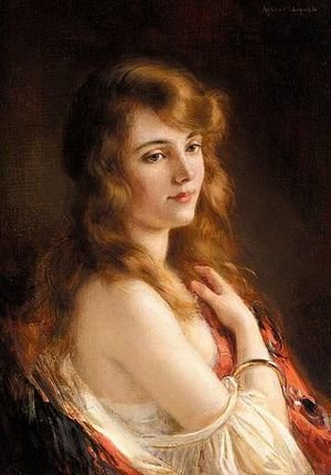 Reproduction oil paintings - Albert Lynch - A Beauty