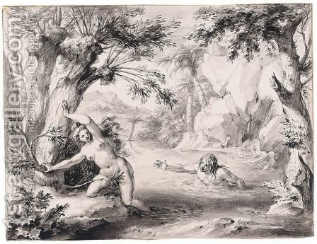 Alpheus And Arethusa by Godfried Maes - Reproduction Oil Painting