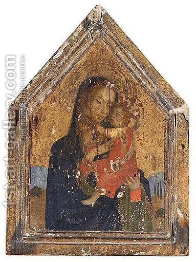 The Madonna And Child In A Landscape by (after) Fra Angelico - Reproduction Oil Painting