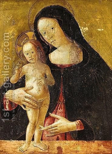 Madonna And Child by (after) Pietro (Lo Spagna) Giovanni Di - Reproduction Oil Painting