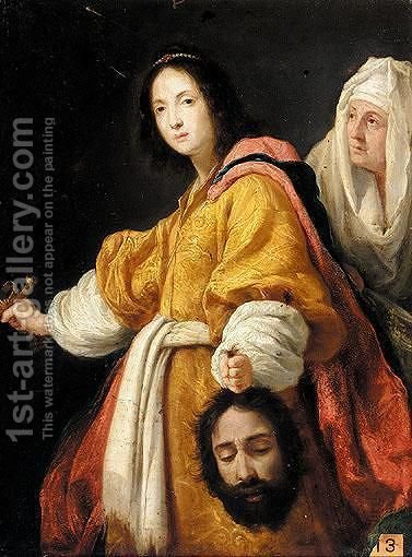 Judith With The Head Of Holofernes 2 by (after) Cristofano Allori - Reproduction Oil Painting