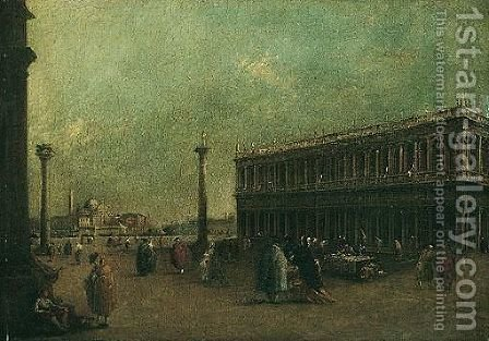 Venice, A View Of The Piazzetta With The Church Of San Giorgio Maggiore In The Distance by (after) Francesco Guardi - Reproduction Oil Painting