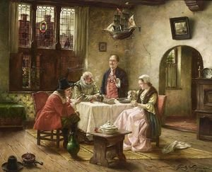 Reproduction oil paintings - Fritz Wagner - A Merry Company