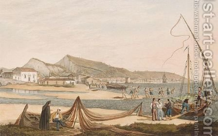 The Town And Harbour Of Zante by (after) Joseph Cartwright - Reproduction Oil Painting