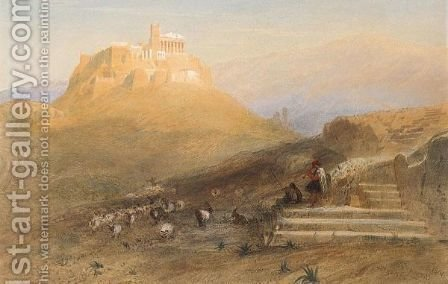 View Of The Acropolis by Harry John Johnson - Reproduction Oil Painting