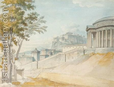 Evocation Of Ancient Athens by (after) Louis-Francois Cassas - Reproduction Oil Painting