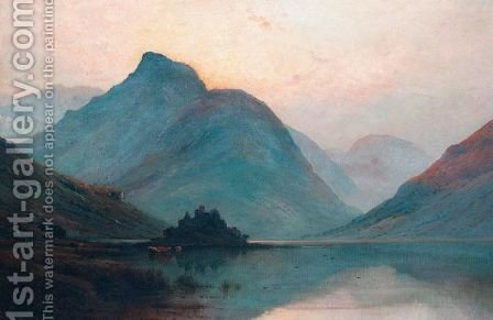 Kilchurn Castle, Loch Awe by Alfred de Breanski - Reproduction Oil Painting