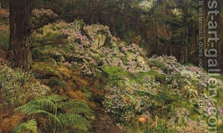 A Woodland Scene by Hugh Cameron - Reproduction Oil Painting