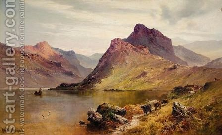 Stronachlacher, The Birth Place Of Rob Roy by Alfred de Breanski - Reproduction Oil Painting
