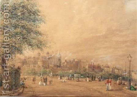 The Tower Of London by Henry Le Keux - Reproduction Oil Painting