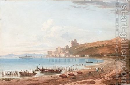 Mediterranean Bay by (after) John Varley - Reproduction Oil Painting