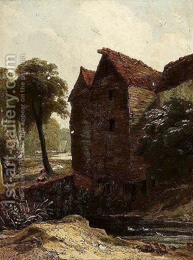 The Mill House by (after) George Vincent - Reproduction Oil Painting