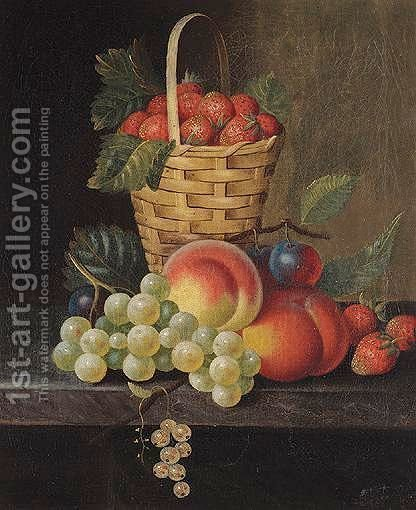 Still Life Of Fruit by (after) William Jones Of Bath - Reproduction Oil Painting