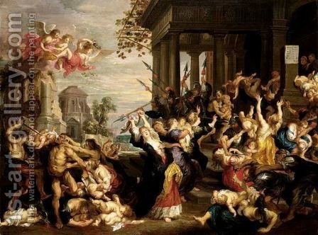 The Massacre Of The Innocents by Guillaume The Elder Forchondt - Reproduction Oil Painting