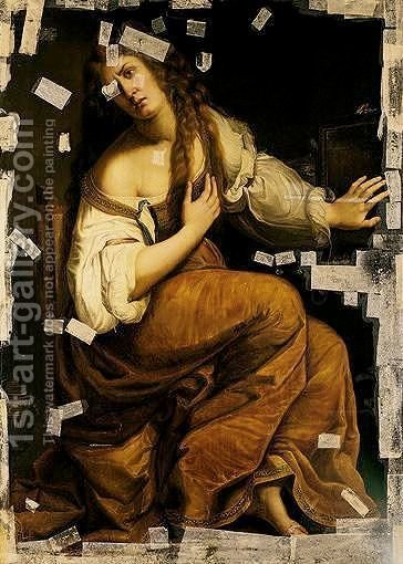 The Conversion Of The Magdalene by (after) Artemisia Gentileschi - Reproduction Oil Painting