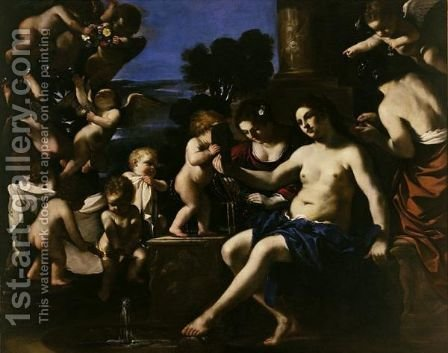 The Toilet Of Venus by Giovanni Francesco Guercino (BARBIERI) - Reproduction Oil Painting