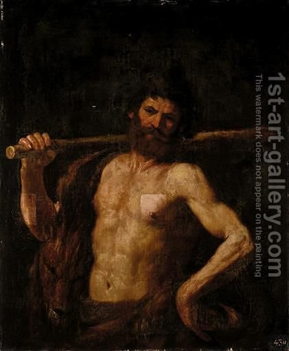 Hercules by Giovanni Francesco Guercino (BARBIERI) - Reproduction Oil Painting