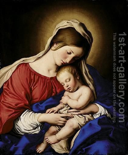 The Madonna And Child 4 by Giovanni Battista Salvi, Il Sassoferrato - Reproduction Oil Painting