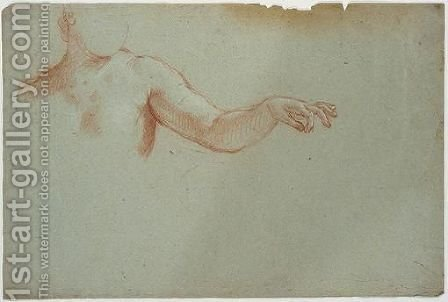 An Outstretched Arm - Study by (after) Carlo Maratta Or Maratti - Reproduction Oil Painting