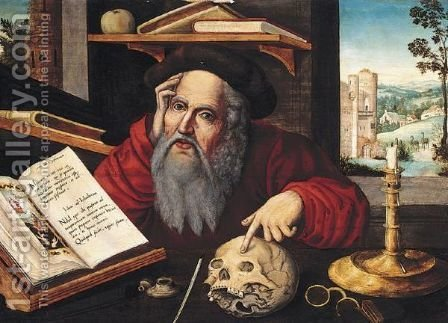 Saint Jerome In His Study 5 by (after) Cleve, Joos van - Reproduction Oil Painting
