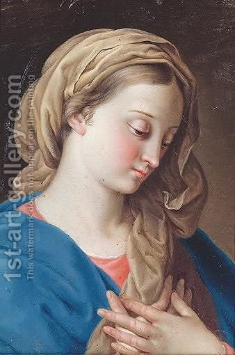 The Virgin Annunciate by (after) Pompeo Gerolamo Batoni - Reproduction Oil Painting