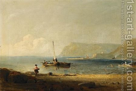 And Part Of St Catherine's Bay, On The West Coast Of Jersey by Hillgrove Turner - Reproduction Oil Painting