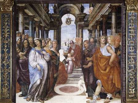 The Presentation Of The Virgin In The Temple 1518 by Il Sodoma (Giovanni Antonio Bazzi) - Reproduction Oil Painting