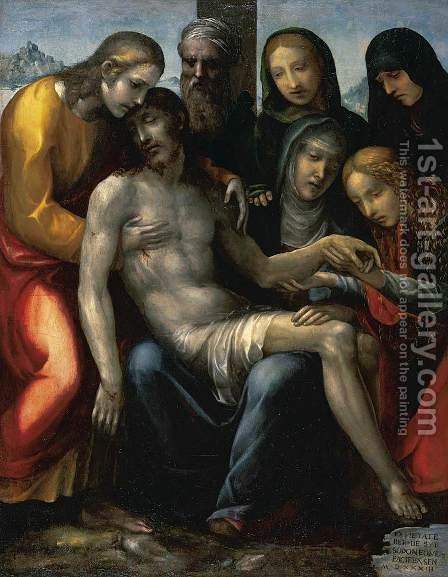 Pietà by Il Sodoma (Giovanni Antonio Bazzi) - Reproduction Oil Painting