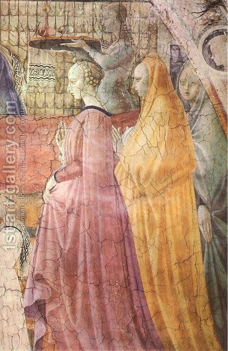 Birth Of The Virgin (detail) 1435 by Paolo Uccello - Reproduction Oil Painting