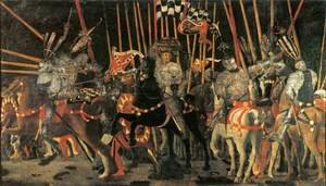 Famous paintings of Horses & Horse Riding: Micheletto da Cotignola Engages in Battle 1450s