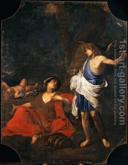 Hagar and the Angel by Giovanni Battista Spinelli - Reproduction Oil Painting