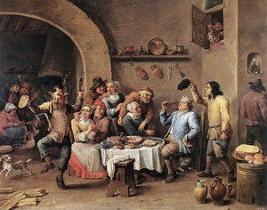 Famous paintings of Taverns: Twelfth-night (The King Drinks) 1634-40