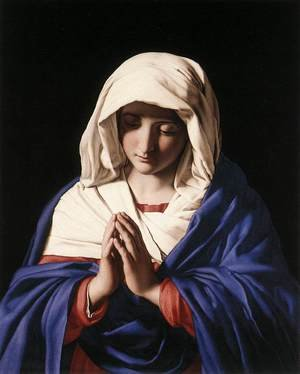 Famous paintings of Christianity: The Virgin in Prayer 1640-50
