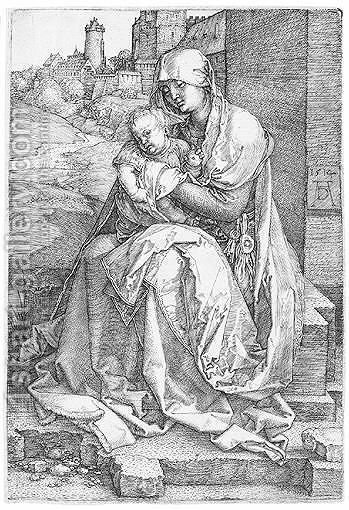 The Virgin And Child Seated By The Wall by Albrecht Durer - Reproduction Oil Painting