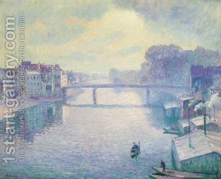 La Marne A Lagny, Effet Brumeux by Henri Lebasque - Reproduction Oil Painting