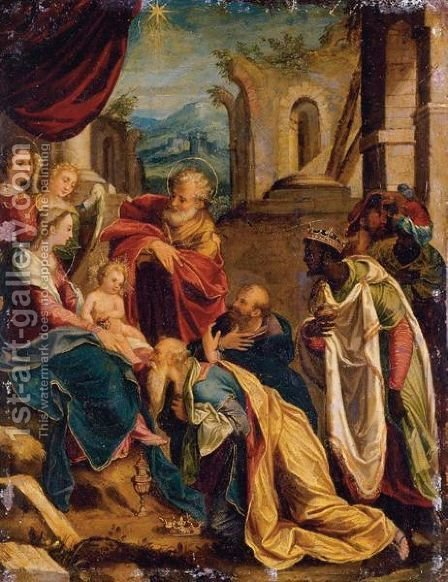 Adoration Of The Magi by (after) Bartolomeo Passerotti - Reproduction Oil Painting