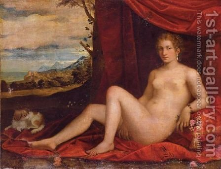 Ariadne On Naxos With Bacchus In The Distance by (Alessandro) Padovanino (Varotari) - Reproduction Oil Painting