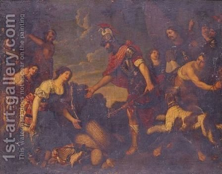 The Continence Of Scipio by (after) Theodoor Rombouts - Reproduction Oil Painting