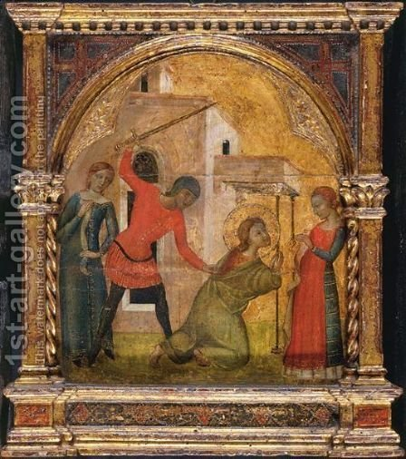 Decollation Of A Saint by (after) Altichiero Da Zevio - Reproduction Oil Painting