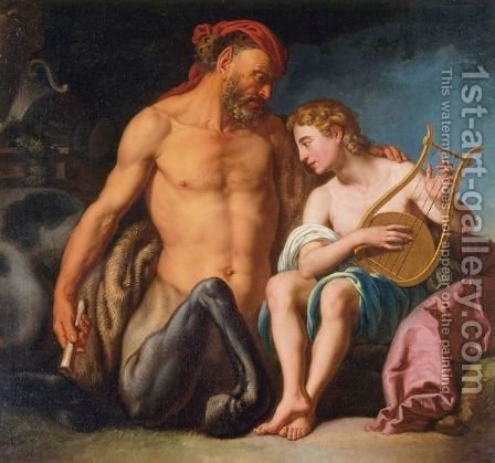 The Education Of Achilles By Chiron by Italian School - Reproduction Oil Painting