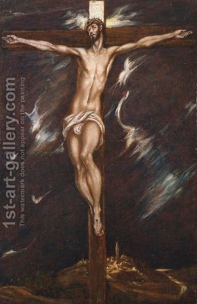 The Crucifixion by (after) El Greco (Domenikos Theotokopoulos) - Reproduction Oil Painting