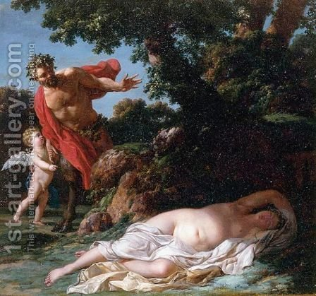 Jupiter And Antiope 2 by (after) Jean-Simon Berthelemy - Reproduction Oil Painting
