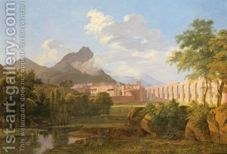 View Of The Arno And Monte Pisani With The Town Of Fagnano In The Distance by (after) Agathon Petitbois - Reproduction Oil Painting