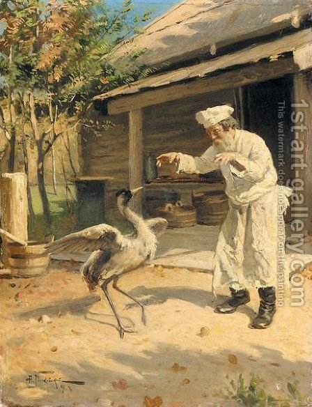 The Dancing Crane by Aleksandr Vladimirovich Makovsky - Reproduction Oil Painting