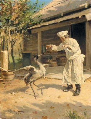 Reproduction oil paintings - Aleksandr Vladimirovich Makovsky - The Dancing Crane