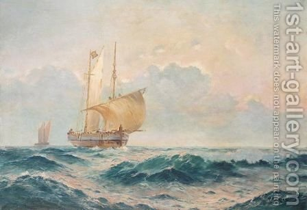 Sailing At Half Mast by Aleksei Vasilievich Hanzen - Reproduction Oil Painting