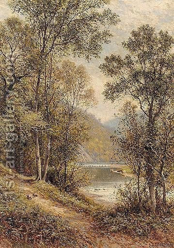 Path On The River Bank by Alfred Glendening - Reproduction Oil Painting